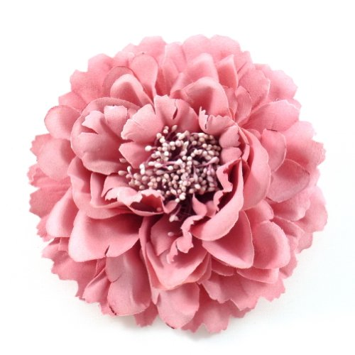 rougecaramel - Accessoires cheveux - Broche fleur / pince cheveux mariage 11cm - rose