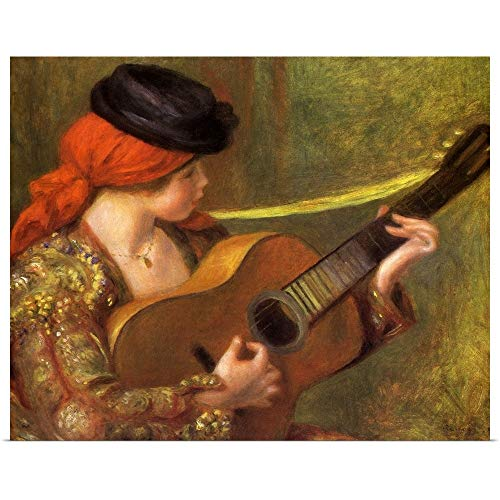 (GREATBIGCANVAS Poster Print Entitled Young Spanish Woman with a Guitar by Pierre Auguste (1841-1919) Renoir 24