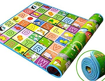 WHOLE MART Mat Play mat Baby mats Waterproof XL Extra Lare King Size Double Side Anti Skid Big (6 Feet X 5 Feet) Soft Crawl Mattress Floor Matt for Kids
