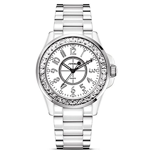 VIGOROSO+Watch+Deluxe+Ladies+Big+Size+Women+White+Stainless+Steel+Bling+Diamonds+Quartz+Wrist+Watch