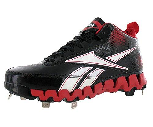 Reebok Men's Pro Cooperstown Mid Zig M Baseball Shoe,Blac...