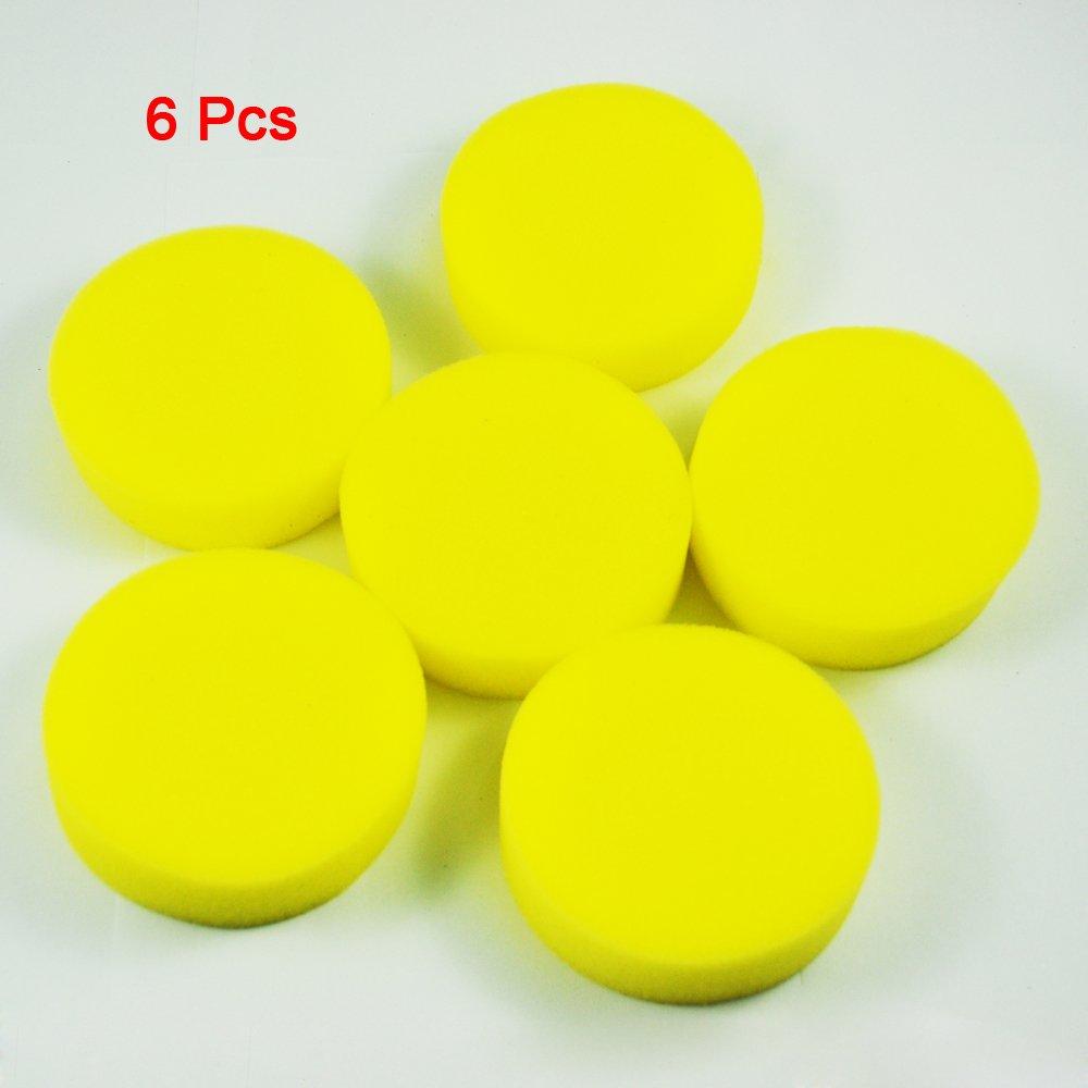Sonline Spugna rotonda gialla applicatore stendere la cera