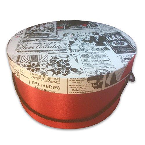 Hat Gift Box - 50'S Newspaper