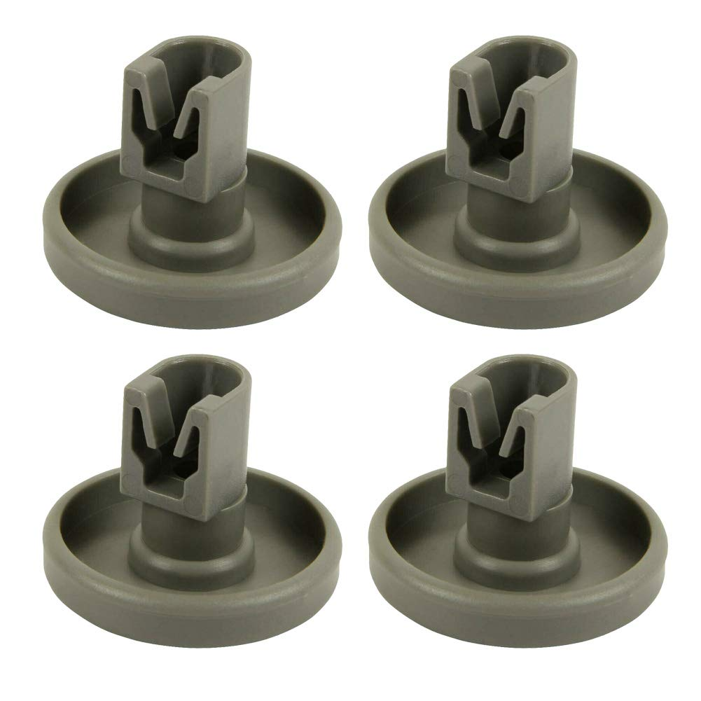 4pcs Plastic Dishwasher Lower Basket Wheel Roller Part Accessory Repairing Kit