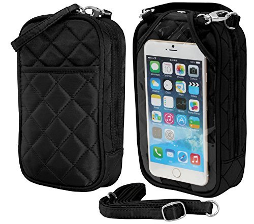 phones Phone Quilt Cell all Crossbody Black Purse Charm14 Fits wq6ZxvS