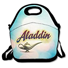 Bakeiy Aladdin Light Lunch Tote Bag Lunch Box Neoprene Tote For Kids And Adults For Travel And Picnic School
