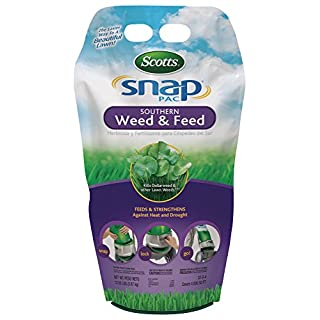Scotts Snap Pac Southern Weed and Feed - Use with Scotts Snap Spreader - Kills Dollarweed, Clover and Other Listed Lawn Weeds - Feeds and Strengthens Against Heat and Drought - Covers 4,000 sq. ft.