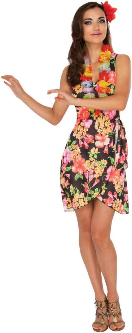 Horror-Shop Disfraz de niña Hawaiana con Collar de Flores M ...