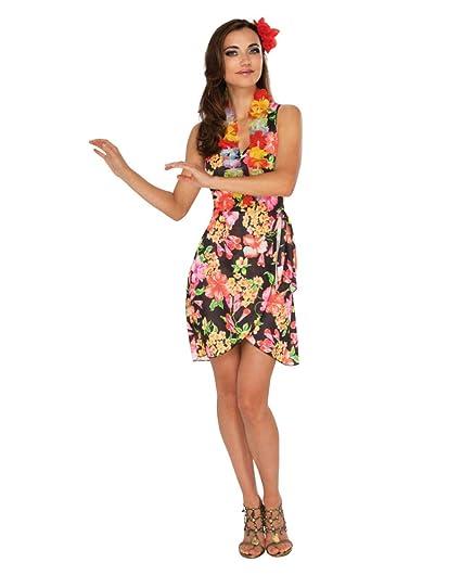 Horror-Shop Disfraz de niña Hawaiana con Collar de Flores S ...
