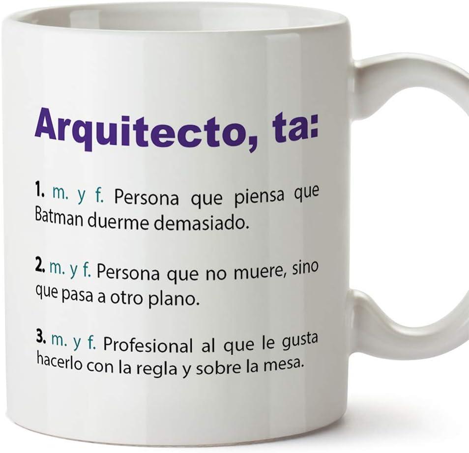 MUGFFINS Tazas Desayuno Originales de Profesiones para Regalar a Trabajadores - Tazas para arquitectos Tazas con Frases y Mensajes alegres y Divertidos
