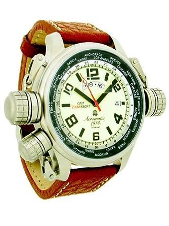 Aeromatic 1912 XXL GMT Worldtour Uhr mit Spezial-Kronen-System A1284
