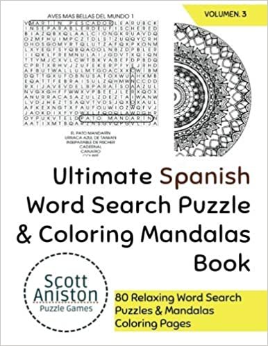 Amazon Com Ultimate Spanish Word Search Puzzle Coloring Mandalas