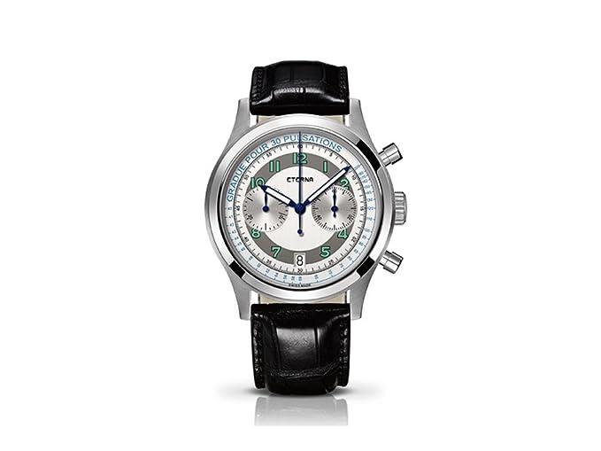 Eterna - patrimonio pulsometer reloj, ETA 2894 - 2, 42 mm, Cronograph, edición limitada: Amazon.es: Relojes