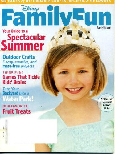Disney Family Fun August 2009 Outdoor Crafts, Games That Tickle Kids' Brains, Turn Your Backyard Into a Water Park, 58 Pages of Affordable Crafts Recipes & Getaways, Family Reunion Campout, Toy-Trading Swap Meet (Meet Magazine Swap)