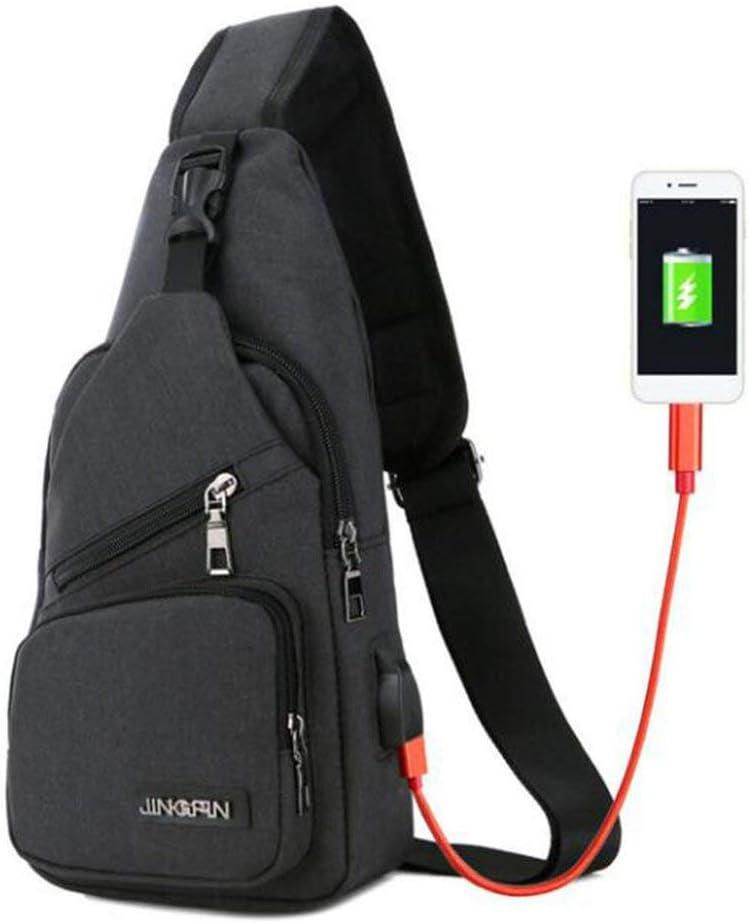 Emily Crossbody Bags Mens Chest Bag Designer Messenger Bag Canvas Shoulder Bags Black