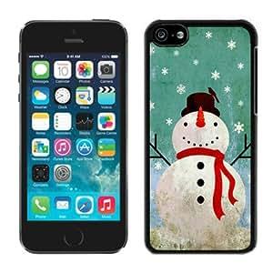 Custom Iphone 5C TPU Case Christmas Snowman Black iPhone 5C Case 4