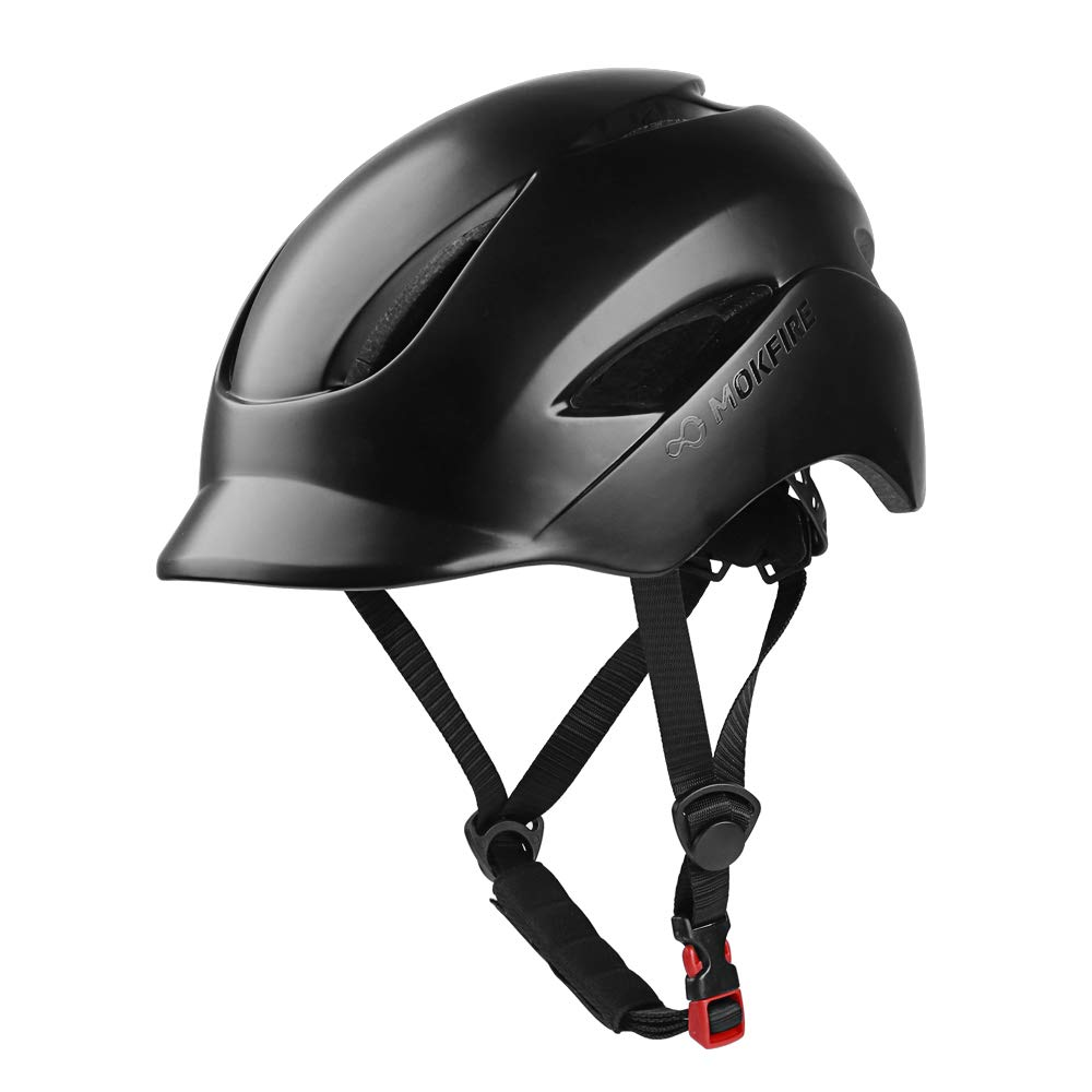 MOKFIRE Adult Bike Helmet That's Light, Cool & Sleek, Bicycle Cycling Helmet CPSC and CE Certified with Rear Light for Urban Commuter Adjustable Size for Adult Men/Women - Black by MOKFIRE