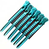 Tmarton 12Pcs Salon Metal Hairdressing Sectioning Dividing Duck Bill Clips Clamp Hair Styling Clips Hairpin