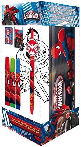 Ultimate Spiderman AS6753 - Set de papeleria, 25 piezas en caja ...