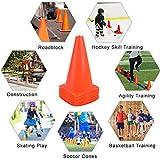 9 Inch Plastic Training Traffic Cones, 10 Pack