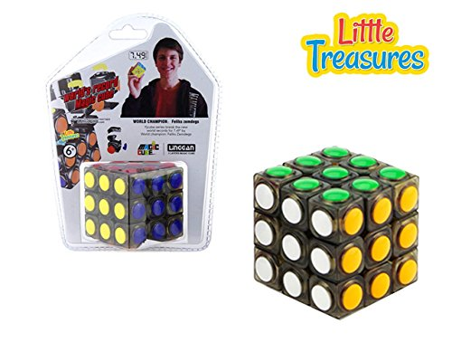 Little Treasures Cool Speed Cube, Vivid Color 3x3 Puzzle Cube, Stickerless 3 Layer Speed Cube