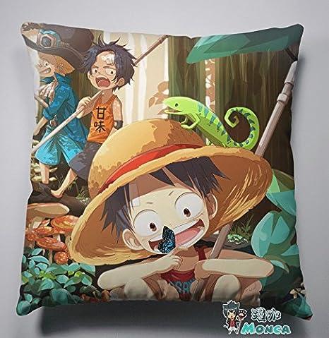 One Piece almohada lindo Luffy y bloqueo y Ace cojín ...
