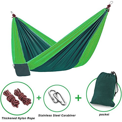 Camping parachute hammock for outdoors free ropes for Does new roof affect appraisal
