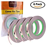 4 Pack Copper Foil Tape with Conductive Adhesive for EMI...