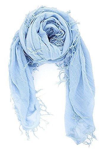 New Silk Shawl Scarf (CHAN LUU NEW Cashmere Blue CASHMERE & SILK SOFT SCARF Shawl Wrap)