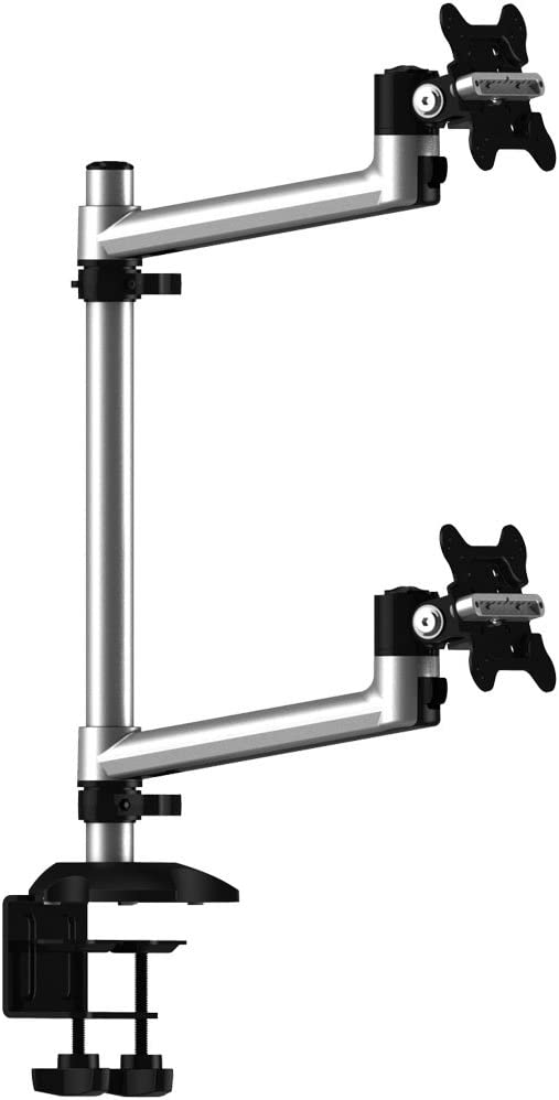 Cotytech Dual Monitor Desk Mount for Apple Top Down with Single Arms (BL-AP18)