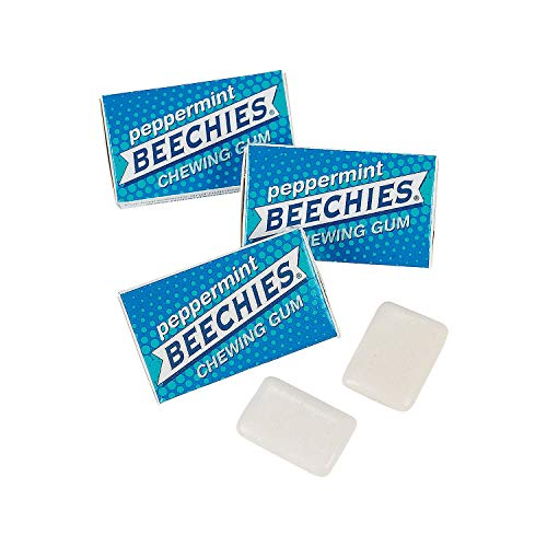 Gum Beechies (Fun Express - Beechies Peppermint Gum (100 Pack) - Edibles - Gum - Gumballs & Individually Wrapped - 100 Pieces)