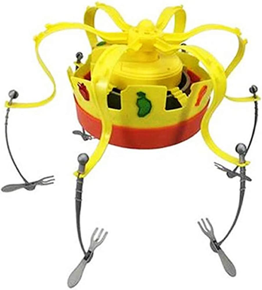 Novel Crown Game Musical Spinning Crown Snacks Food Party Family Game Toy Creative for Children Yellow