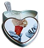 Vanilla Edible Massage Oil Heart Candle - 4 oz.