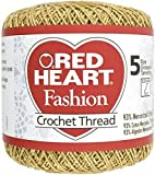 Coats Crochet Red Heart Fashion Crochet, Thread Size 5, Gold/Gold
