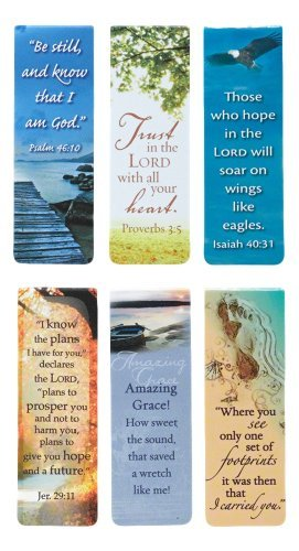 Beautiful Magnetic Bookmarks with Scripture and Words of Inspiration - Set of 6]()