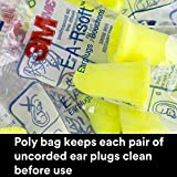 3M Ear Plugs, 200 Pairs/Box, E-A-Rsoft FX 312-1261, Uncorded, Disposable, Foam, NRR 33, Drilling, Grinding, Machining, Sawing, Sanding, Welding, 1 Pair/Poly Bag