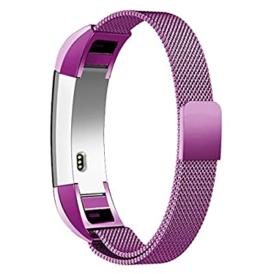 Fitbit Alta HR and Alta Bands Metal, Swees Milanese Stainless Steel Replacement Accessories Metal Small & Large Band for Fitbit Alta HR and Alta, Rose Gold