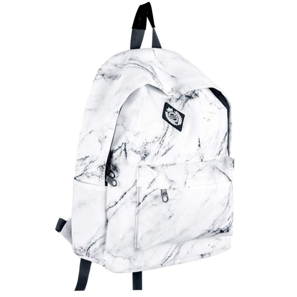 Zlk Backpack Autumn And Winter Travel Bag Marble Print Shoulder Bag Campus Bag