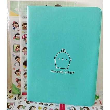 BJBCH Agenda Molang Diary Notebook + 12Pcs Pegatinas ...