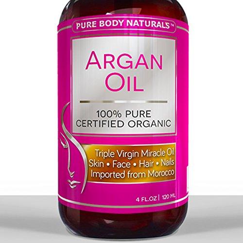 Лучший органических Аргана масло для волос, лица, кожи и ногтей - огромные 4OZ бутылки - трехместный Очищенная Марокканский Аргана масло - идеальный подарок для мужчин и женщин, 100% PURE & ECOCERT Сертифицированный - Терапевтическая для всех состояний ко