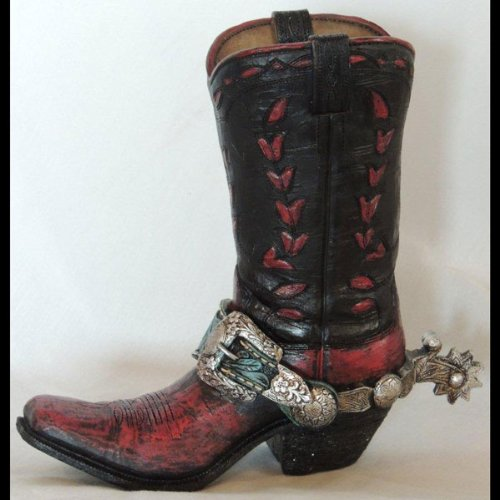 Cowboy Boot Vases - 7