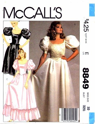 80s prom dress sewing pattern - 9