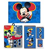 Disney Marvel New Shower Curtain & Hooks & Bath Towel & Memory Foam Mat Set (Mickey Mouse, 17pcs Set)
