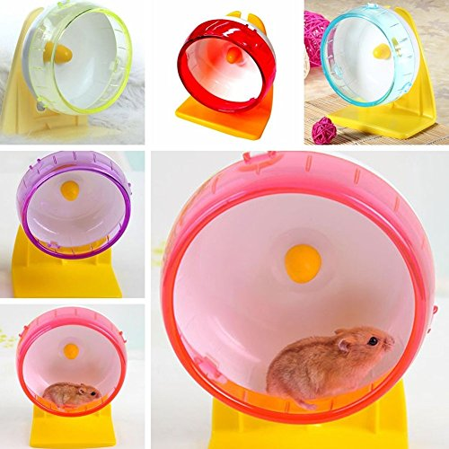 Whitelotous-Plastic-Silent-Hamster-Mouse-Exercise-Running-Spinner-Wheel-Small-Pet-Toy-S-12cm