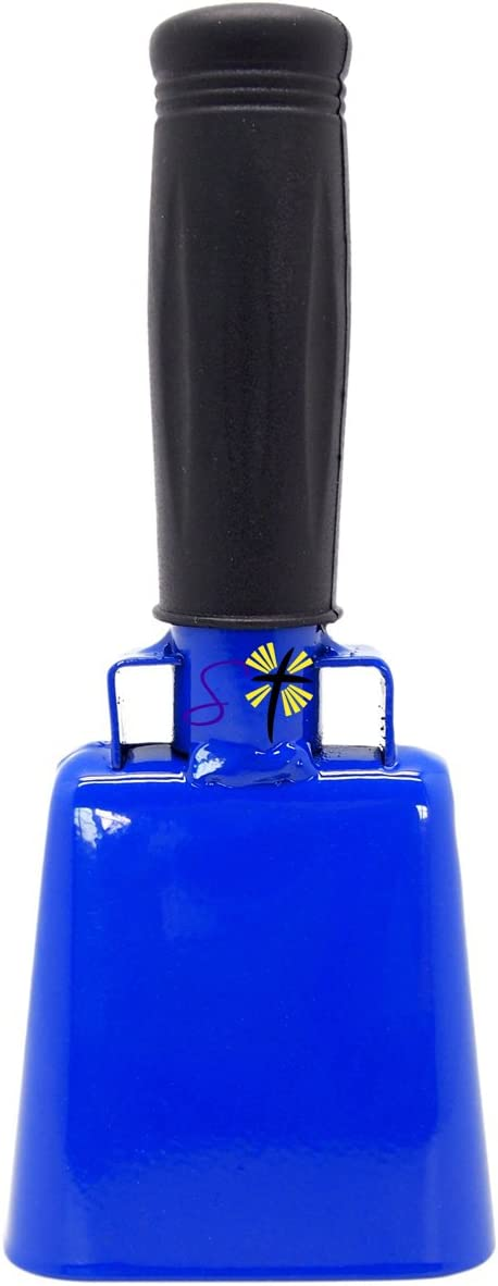 Cow Bell by Stewart Trading/™ Various Sizes and Team Colors Cowbell with Stick Grip Handle Bell for Cheering at Sporting /& Wedding Events