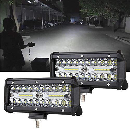 7inch LED Light Bar 2pcs 240W Offroad Driving Lights LED Pods Spot Flood Combo Beam Fog lights Waterproof Led Work Lights for UTV ATV Jeep Truck Boat