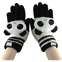 Womens Girls Cute Animal Winter Warm Wool Touchscreen Gloves Mitten Texting Gloves for Electronic Devices iPhone/iPad/Tablet/Android Phones, Best Present for Xmas Day/Birthday/New Year