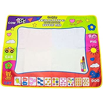 """Coolplay 4 Color Children Water Drawing Mat Board & Magic Pen Doodle Kids Educational Toy Gift 31.5"""" x 23.62"""""""