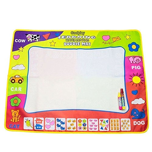 Coolplay 4 Color Children Water Drawing Mat Board & Magic Pen Doodle Kids Educational Toy Gift 31.5 x 23.62