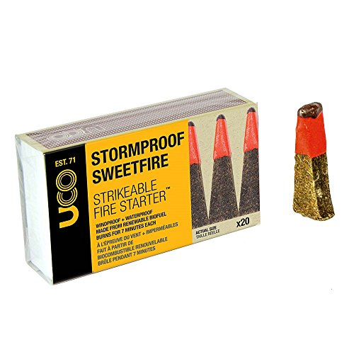 UCO STORMPROOF SWEETFIRE Strikeable Fire Starter 20 count by UCO